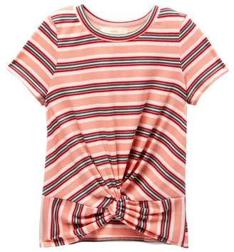Soprano Twist Front Baby Tee (Big Girls)