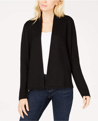 Eileen Fisher Open Front Simple Cardigan
