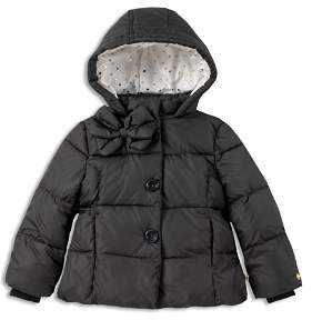 Kate Spade Girls' Bow Puffer Coat - Little Kid