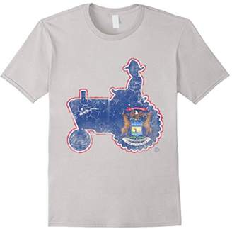 Michigan Flag Farmer Tractor Shirt