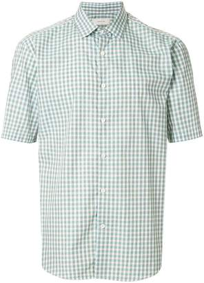 Cerruti short sleeved check shirt