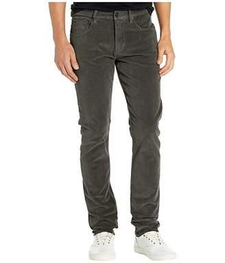 Hudson Jeans Blake Slim Straight Zip Fly in Reactive Dark Grey