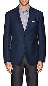 Barneys New York MEN'S SHANG WOOL-SILK TWO-BUTTON SPORTCOAT-BLUE SIZE 40 R