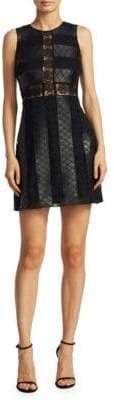 Zac Posen Leather Lace Dress