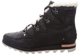 Sorel Suede & Wool Ankle Boots
