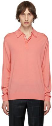 Paul Smith Pink Merino Wool Gentlemen Polo