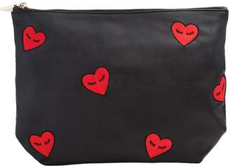 7 For All Mankind Sonix Fancy Heart Pouch in Black