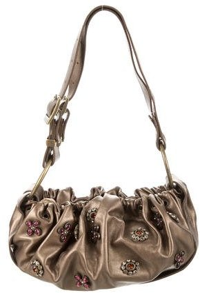 Stuart Weitzman Metallic Embellished Bag