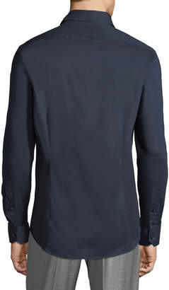 Roberto Cavalli Men's Slim-Fit Dress Shirt, Navy