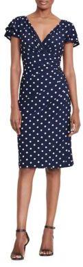 Lauren Ralph Lauren Polka-Dot Jersey Dress $109 thestylecure.com