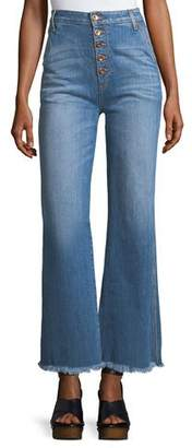 Alice + Olivia AO.LA by Alice+Olivia High-Rise Flared-Leg Jeans
