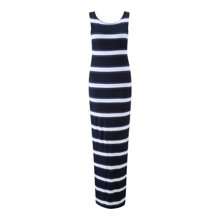 Blue Stripe Hope Sleeveless Maxi Dress