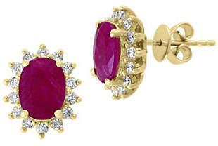 Effy Amore 14K Yellow Gold, Ruby 0.41 TCW Diamond Earrings