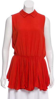Hache Sleeveless Pleated Top