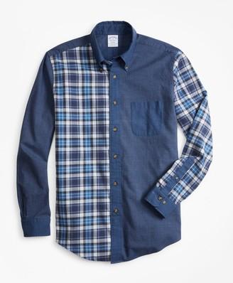 Brooks Brothers Regent Fit Plaid Flannel Fun Sport Shirt