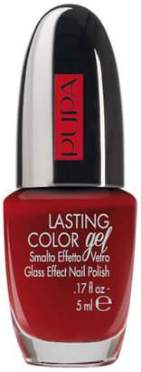 PUPA Lasting Colour Gel Gloss Effect Black Burgundy Nail Polish