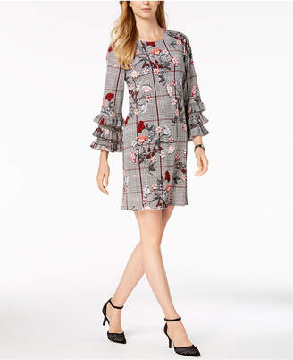 Alfani Tiered-Sleeve A-Line Dress, Created for Macy's