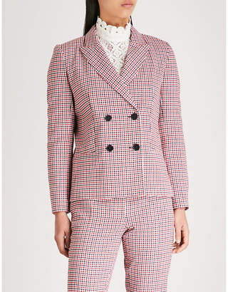 Claudie Pierlot Victor checked crepe blazer