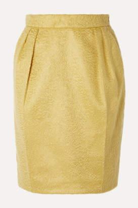 Max Mara Turchia Gathered Mohair-blend Mini Skirt - Yellow