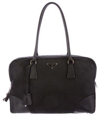 pradaPrada Tessuto & Saffiano Shoulder Bag