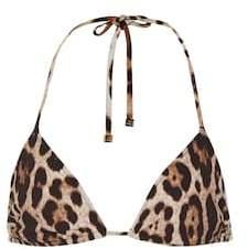 Dolce & Gabbana Leopard-printed bikini top