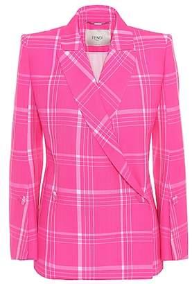 Fendi Wool plaid jacket