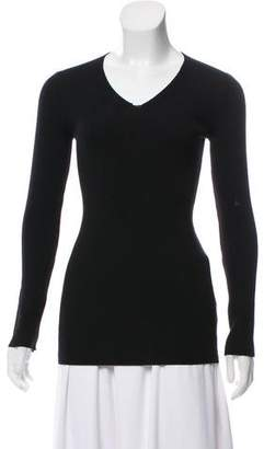 Alaia Wool V-Neck Top