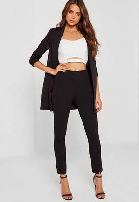 Missguided Skinny Fit Cigarette Pants Black