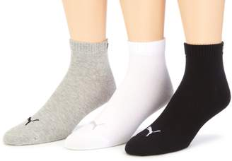 Puma 3 pair Sneaker Quarter Socks Unisex Mens & Ladies In 3 Colours, color:grey/white/black;konfektionsgröße:L
