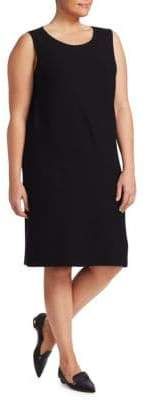Lafayette 148 New York Plus Matte Crepe Sweater Dress