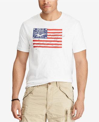 Polo Ralph Lauren Men's Big & Tall Jersey Cotton Graphic-Print T-Shirt $55 thestylecure.com