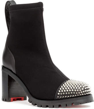 43e56a6b3002 Christian Louboutin Black Round Toe Ankle Boots For Women - ShopStyle UK