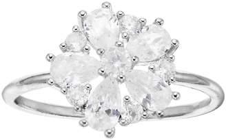 Lauren Conrad Cubic Zirconia Cluster Flower Ring