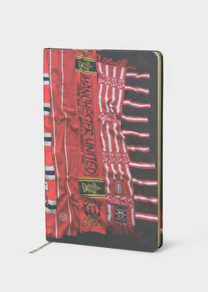 Paul Smith & Manchester United - 'Vintage Scarf' Print Notebook