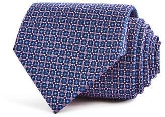 Turnbull & Asser Geometric Floral Squares Neat Classic Tie