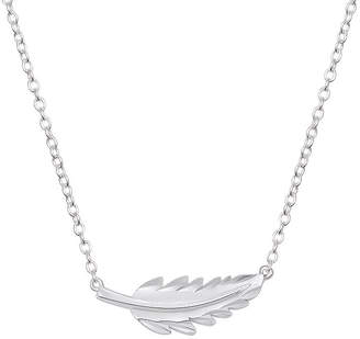 Footnotes Womens Stainless Steel Pendant Necklace