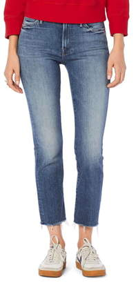 Mother The Rascal Crop Fray Hem Jeans