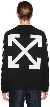 Off White Cotton Jersey Sweatshirt $480 thestylecure.com