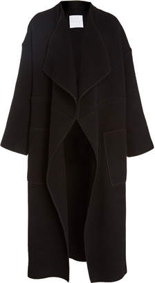 Noon by Noor Hampton Relaxed Draped-Collar Coat