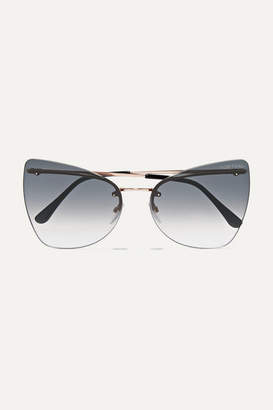 Tom Ford Cat-eye Gold-tone Sunglasses - Gray