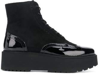 Hogan lace-up platform boots