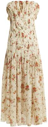 Brock Collection Dosey Roses floral-print cotton dress