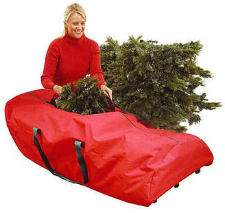 Asstd National Brand 56 Heavy Duty Extra Large Red Rolling Artificial Christmas Tree Storage Bag for 9' Trees