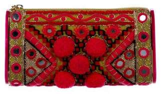 Edie Parker Embroidered Lara Clutch w/ Tags
