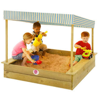 Plum Palm Beach Wooden Sandpit with CaNOpy