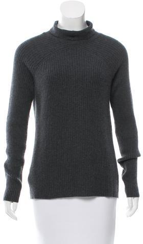 Calvin Klein Collection Mock Neck Cashmere Sweater
