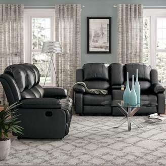 Red Barrel Studio Mayday 2 Piece Faux Leather Living Room Set