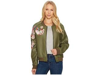 Joe's Jeans Embroidered Poly Jacket Women's Coat