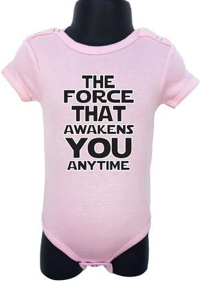 AG Jeans Allure & Grace N80 BABY ROMPER SHORT SLEEVE ONESIE UNISEX THE FORCE THAT GIFT BAGGED A&G (0-6 Months, )