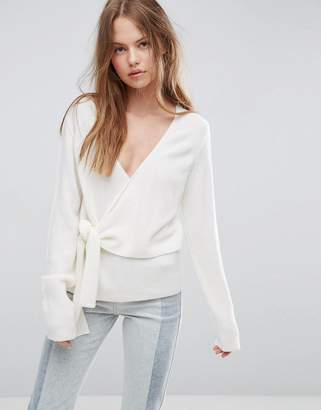 ASOS Sweater With Wrap And Tie $45 thestylecure.com
